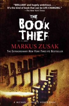 Love this book! The Book Thief by Markus Zusak. Everyone should read this book. It is beautifully narrated by an unlikely sympathetic character. Set in war torn Germany, it is the story of a young girl, the book thief, and those who love her. This Is A Book, Up Book, I Love Books, Book Nerd, Great Books, Amazing Books, Books To Read In Your Teens, Big Books, Children's Books