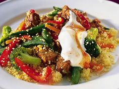Varm quornsallad med couscous