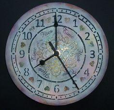 Large clock amp mechanism kit large clock face stencil black stars