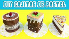 🎒🏫 Back to School Crafts: Mini Cake Boxes - simplekidscrafts Easy Paper Crafts, Cardboard Crafts, Fun Crafts, Back To School Crafts, Chocolates, Gift Cake, Paper Cake, Box Cake, Easy Gifts
