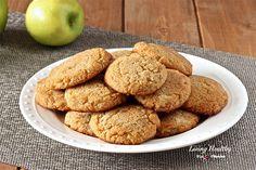 Apple Cinnamon Cookies (Paleo, Gluten-free, Vegan) by Paleo Treats, Healthy Cookies, Healthy Desserts, Delicious Desserts, Coconut Cookies, Sugar Cookies, Cinnamon Cookies, Cinnamon Apples, Ground Cinnamon