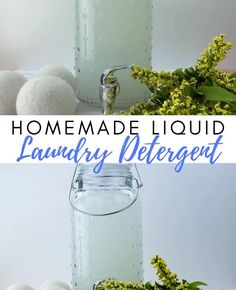 Have you ever thought of making your own Liquid Laundry Detergent? You can take a look at my DIY Best Laundry Detergent here made with Natural Ingredients. Works great and keeps your washing machine clean and smelling great at the same time. Making Laundry Detergent, Laundry Detergent Recipe, Natural Laundry Detergent, Homemade Laundry Detergent, Essential Oils For Laundry, Diy Cleaning Products, Cleaning Hacks, Organic Living, Natural Living