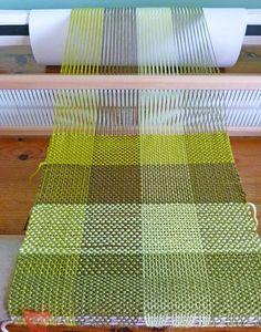 Green Woven Scarf - Rigid Heddle Loom