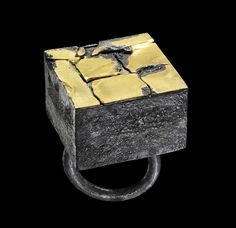 Gigi Mariani Ring: In the box series, 2011 Silver,18kt yellow gold, niello