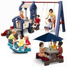 Variety Swingset Bundle- this would be awesome for grandparents (in general) to have in their backyard. It's probably much easier to move than the wooden structures
