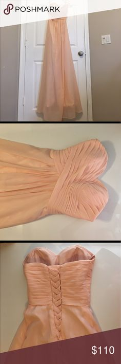 Beautiful coral evening gown! Beautiful coral evening gown with corset back! Great for a wedding and/or prom! Amazing condition! Dresses Strapless