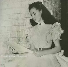 Vivian Leigh takes a break on the set of Gone With The Wind