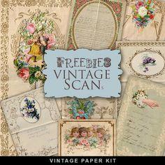 Scrapbooking TammyTags -- TT - Designer - Far Far Hill,  TT - Item - Paper, TT - Theme - Vintage