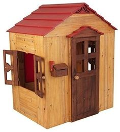 Kidkraft Wooden Outdoor Playhouse - modern - Outdoor Playsets - The Organizing Store