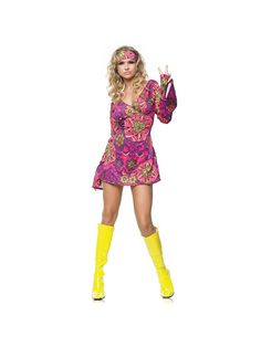 Sexy Women's Hippie Girl Costume   Wholesale 60's Costumes for Adults