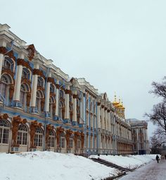 The grand fasade of the catherine palace in St. Petersburg