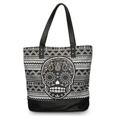 Purple Leopard Boutique - Loungefly Purse Black and White Sugar Skull Tote Bag, $70.00 (http://www.purpleleopardboutique.com/loungefly-purse-black-and-white-sugar-skull-tote-bag/)
