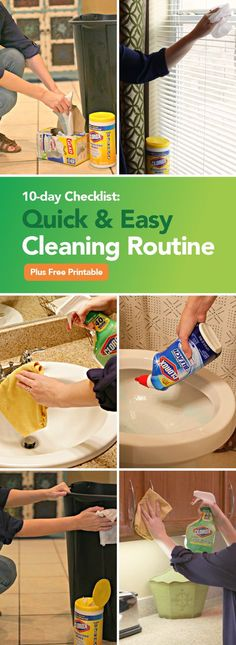 If to-do lists get you through, check out this Spring Cleaning Challenge and Checklist featuring Clorox! From timing yourself to tackling the neglected spaces in your house, there are so many deep cleaning hacks you can use to stay on top of this se Deep Cleaning Tips, Cleaning Checklist, House Cleaning Tips, Cleaning Solutions, Spring Cleaning, Cleaning Hacks, Diy Hacks, Casa Clean, Clean House