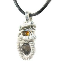 Small Heady Sterling Silver Wire Wrap Pendant by kyndvalley, $145.00
