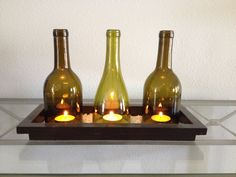 Wine bottle candle holders - DIY with a G2 glass cutter!