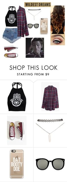 """""""Dating Liam Dunbar from Teen Wolf"""" by http-kylie ❤ liked on Polyvore featuring Boohoo, Madewell, Converse, Wet Seal, Casetify, Karen Walker, women's clothing, women's fashion, women and female"""