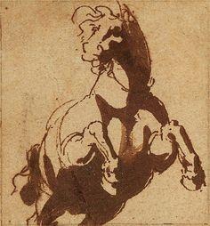 Jan de Bisschop, Five Small Studies of Horses