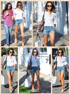 The 30-year-old actress and fashion blogger dressed down on Tuesday, letting her gal pal Jamie Chung be the style star as the pair shopped in West Hollywood. The 31-year-old actress had major fringe appeal while strutting around in a pair of tan boho chic Elyse Walker sandals.
