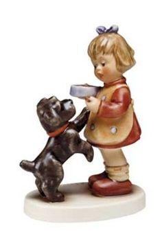 Hummel actueel | Hummel Magst probieren / Puppy Pause | Peter's Hummel Home | De grootste collectie beeldjes | Hummel Disney Goebel Rosina W...