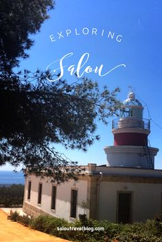 We captured this photo of Salou's Lighthouse ( Far de Cap Salou ) on a beautiful day in July. Days In July, Beautiful Day, Lighthouse, Barcelona, Spain, Neon Signs, Cap, Explore, Blog