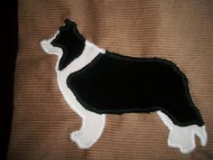 4x6ft Handmade BORDER COLLIE Quilt  Corduroy blanket / Throw -  Beautiful -