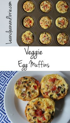 Looking for a quick and easy breakfast that doesn't sacrifice flavor? Look no further with these Veggie Egg Muffins! Perfect option to meal prep for the week or to serve a crowd. Veggie-filled, dairy free, and flavorful.