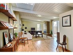 stunning mid century modern with post beam construction 2 fireplaces ...