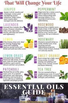 For what conditions are good essential oils?