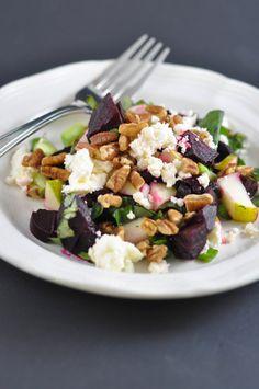 Beet, Pecan and Pear Salad (aka Heat's Beets) - Suburble