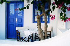 "Fine art photo print of a house fragment from Santorini, Greece - 8x12"" - home decor"