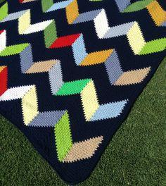 Beach Hut Blanket By BabyLove Brand - Purchased Crochet Pattern - (ravelry)