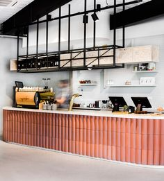 Techne Architecture + Interior Design has shared their latest interior fit-out of the Poacher & Hound Café in Melbourne, Australia. Design Bar Restaurant, Cafe Restaurant, Modern Restaurant, Restaurant Interiors, Coffee Shop Design, Cafe Design, Design Design, Design Ideas, Commercial Design