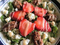 Strawberry Quinoa Salad with Rhubarb Vinaigrette