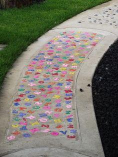 Letters in a pathway