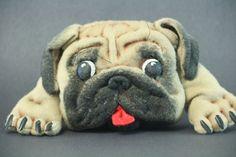Dog breed pug  joss  Нand made  Knitwear by KNartDesign on Etsy