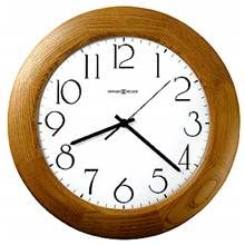 Santa Fe Champagne Oak Stained Round Wall Clock