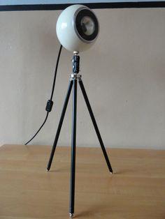 Tripod lamp Floor Table vintage Spot Light Antique Stativ Design Mid Century lamps 50`