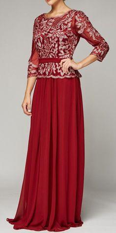 Juliet 634 Quarter Sleeve Formal Dress with Lace Applique Bodice Black