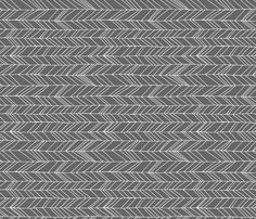 Featherland Gray/White ROTATED fabric by leanne on Spoonflower - custom fabric