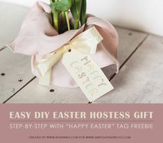 How to create a beautiful personalized mothers day gift creative how to create a super quick last minute easter hostess gift negle Choice Image