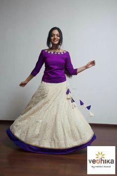 Kids Blouse Designs, Sari Blouse Designs, Lehenga Designs, Kurta Designs, Long Skirt Top Designs, Long Skirt And Top, Long Gown Dress, Saree Dress, Dress Skirt