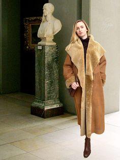 276fe7330956 Higgs Leathers Caroline (ladies Merino Shearling long coats) Shearling Coat,  Fur Coat,