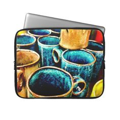 Colorful Coffee Mugs Gifts for Coffee Lovers Computer Sleeves  #SOLD on #Zazzle