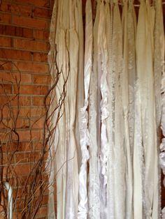 Fabric Garland Lace Wedding Pearls Backdrop Floor by ohMYcharley, $91.00