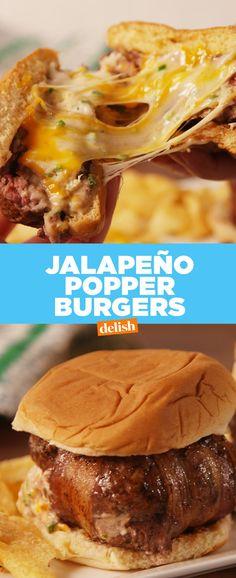 Jalapeño Popper BurgersDelish