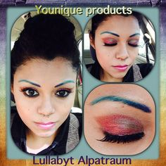 Younique  products   Eyeshadow mineral pigment *heart broken $10 *gorgeous $10  Mascara *Moodstruck 3d fiber lashes $29usd  Concealer mineral  *fabulous $29