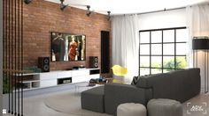 Modern gray sofa 55 angle models or dark rights Living Room Ideas 2019, Living Room Grey, Living Room Modern, Z Brick, Zig Zag Wall, Brick Wall Kitchen, Modern Grey Sofa, Design Salon, Home Decor Bedroom