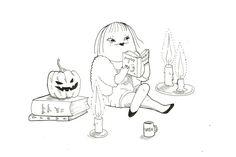 Illustration by Sanni Alanko Halloween Illustration, Horror Stories, October, Snoopy, Illustrations, Fictional Characters, Art, Art Background, Illustration