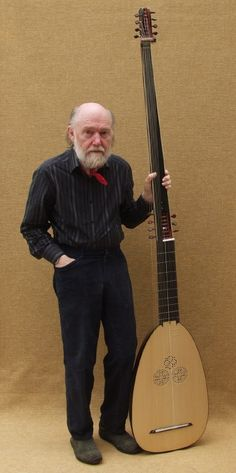 Luthier David Van Edwards with theorbo