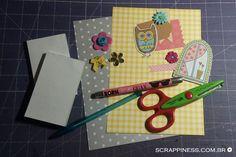 Scrappiness Designs | Anota aí! - Vem que eu te mostro como fazer essa caderneta fofa! #caderneta #scrapbook #filipaper #scrapgoodies